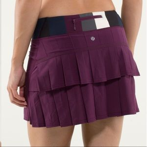 💐 Lululemon Pace Setter Skirt Plum Size 2